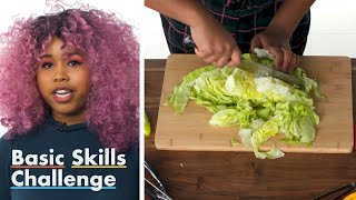 50 People Try to Chop Lettuce   Epicurious