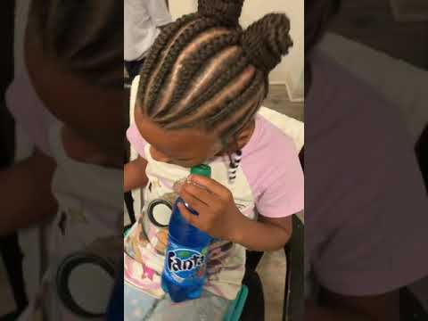 Kids Style Undo Buns W/ weave...