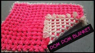 POM POM BLANKET DIY PLY LOOM - Full Step By Step Tutorial.|| How To Frame A Blanket|| Diy Blanket