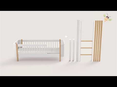 oliver furniture wood mini+ cot / bed 0-9 oak / white