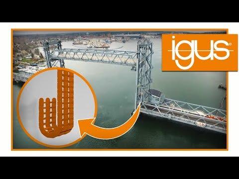 Sichere Kabelführung in einer Hubbrücke | Portsmouth Memorial Bridge