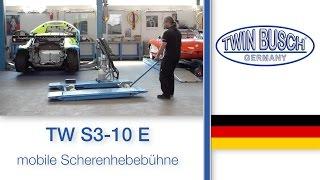 TW S3-10 E : Die Mobile Scherenhebebühne von TWIN BUSCH®