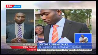 KTN Prime: Kenyan doctors' union officials hold a closed door meeting with Health CS Cleopa Mailu