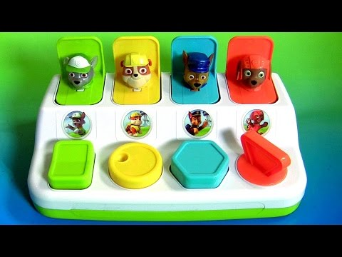 Nickelodeon Paw Patrol Pop Up Pals Surprise Toys Learn Colors With