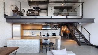 Minimalistic & Industrial Loft Apartment