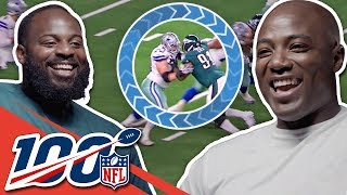 Fletcher Cox & DeMarcus Ware Compare Game Film and Big Play Celebrations   NFL 100 Generations