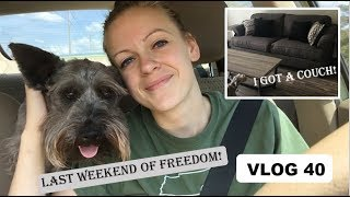 VLOG 40: Last Weekend Before Busy Season | I Got a Couch!