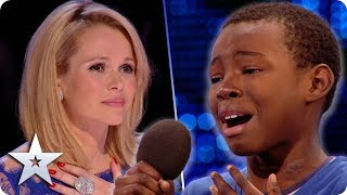 Malaki FIGHTS BACK TEARS during emotional Beyonce cover! | Britain's Got Talent