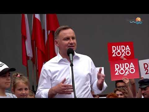 Andrzej Duda w Suwałkach. Godzina z prezydentem