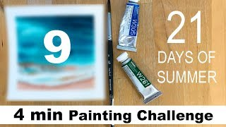 DAY 9 Watercolor Painting Challenge TAG #maria21daysofsummer