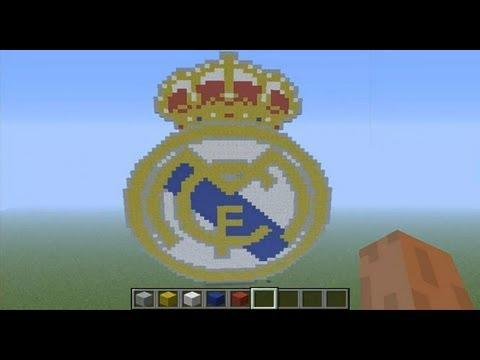 Pixel Art En Minecraft Escudo Del Real Madrid Hd On Youzeek Com