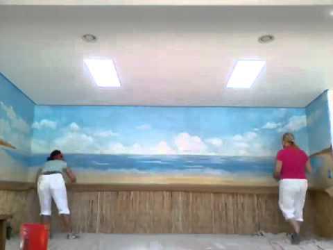 Beach mural demo