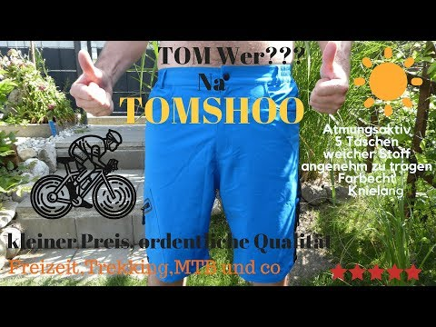 Review:Tom wer? Na TOMSHOO Freizeit, MTB,Radhose,MESH,Solide