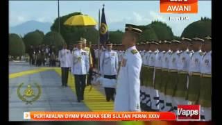 Sultan Nazrin, Raja Permaisuri Perak Tiba Di Istana Iskandariah