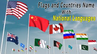 National languages of all Country  of the world   flags of the world   #flags