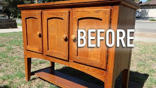 Before And After Furniture Makeover - Facebook Market Place Flipping