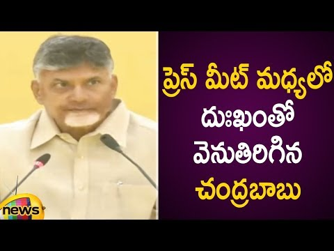 Chandrababu Naidu Emotional About Tdp Party Defeated