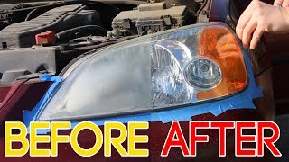 New 2019 Method: Headlight Restoration WITHOUT Sanding - Only video you need to watch