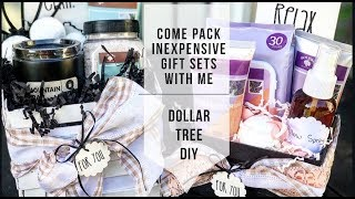 DOLLAR TREE DIY   UNDER $10 GIFT CRATE   DIY CRATES   PACK WITH ME