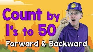 Count by 1's to 50 - Forward and Backward | Counting Song for Kids | Count to 50 | Jack Hartmann