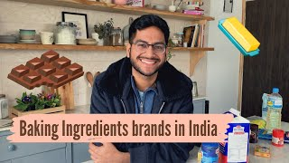Baking Ingredient Brands in India | brands I use | Bakery raw material - chocolate, whipping cream