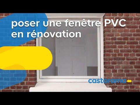 Poser une fenêtre PVC : pose en rénovation (Castorama)