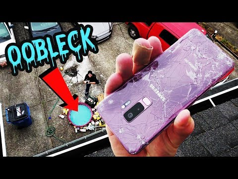 FAIL Galaxy S9+ Oobleck Pool 50 FT Drop Test Mp3