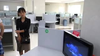 Touring A Completely Empty Computer Room in North Korea