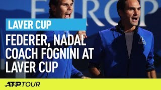 Federer & Nadal Coach Fognini At Laver Cup | Laver Cup | ATP