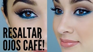 RESALTA EL TONO CAFÉ DE TUS OJOS !
