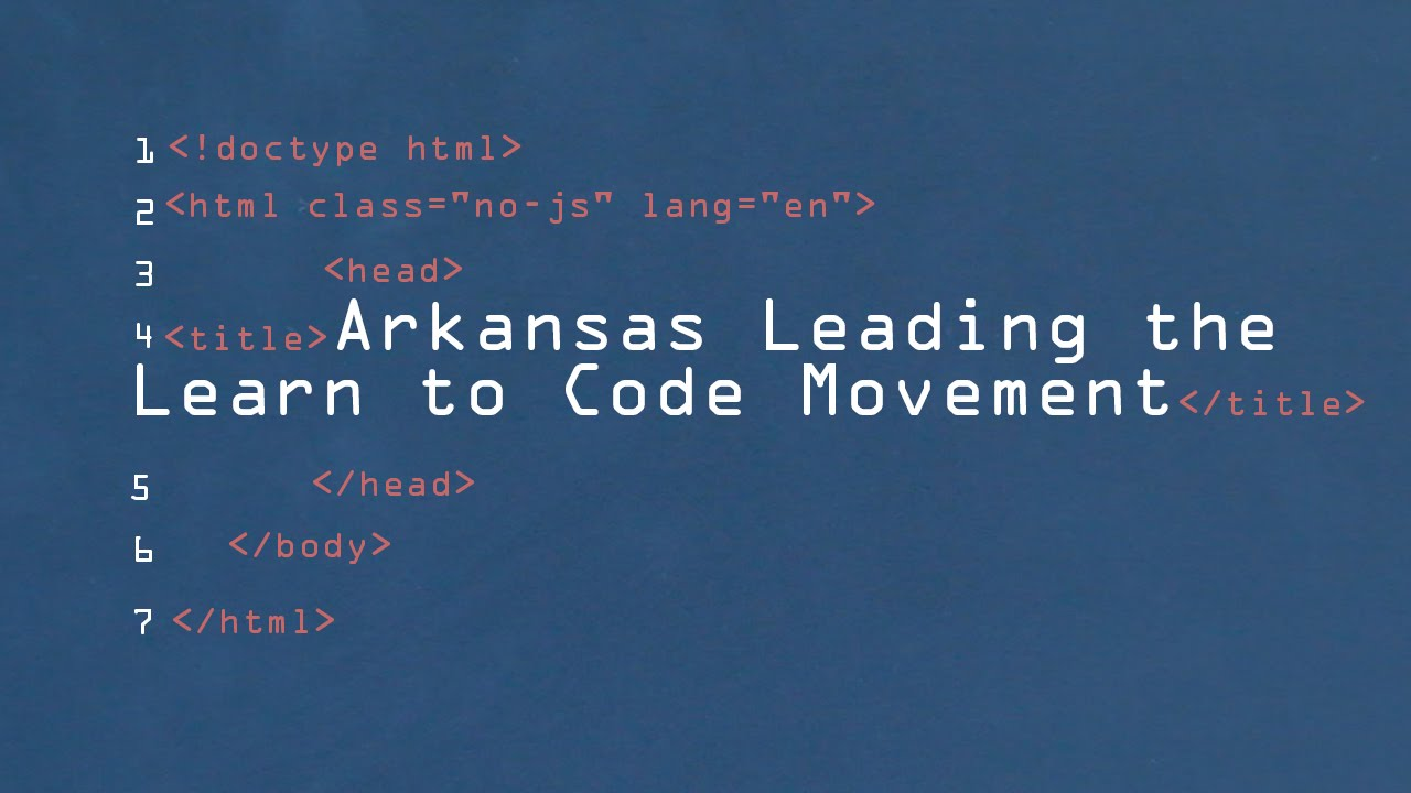 Arkansas Leading the Learn to Code Movement
