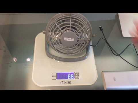 mumbi USB Ventilator - Mini Fan für den Schreibtisch mit An/Aus-Schalter