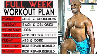 THE BEST FULL WEEK WORKOUT PLAN WITH DUMBBELLS (AT HOME)