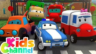 Nursery Rhymes & Baby Songs | Car Cartoon | Street Vehicles | Kids Cars & Monster Trucks Stories