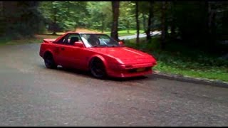 preview picture of video 'Toyota MR2 4AG 20V Blacktop pure engine sound'