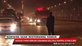 Konya'da yanan uçak restorandaki zarar gün ışığıyla ortaya çıktı