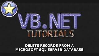 VB.NET Tutorial - DELETE Records From a SQL Server Database - Part 4