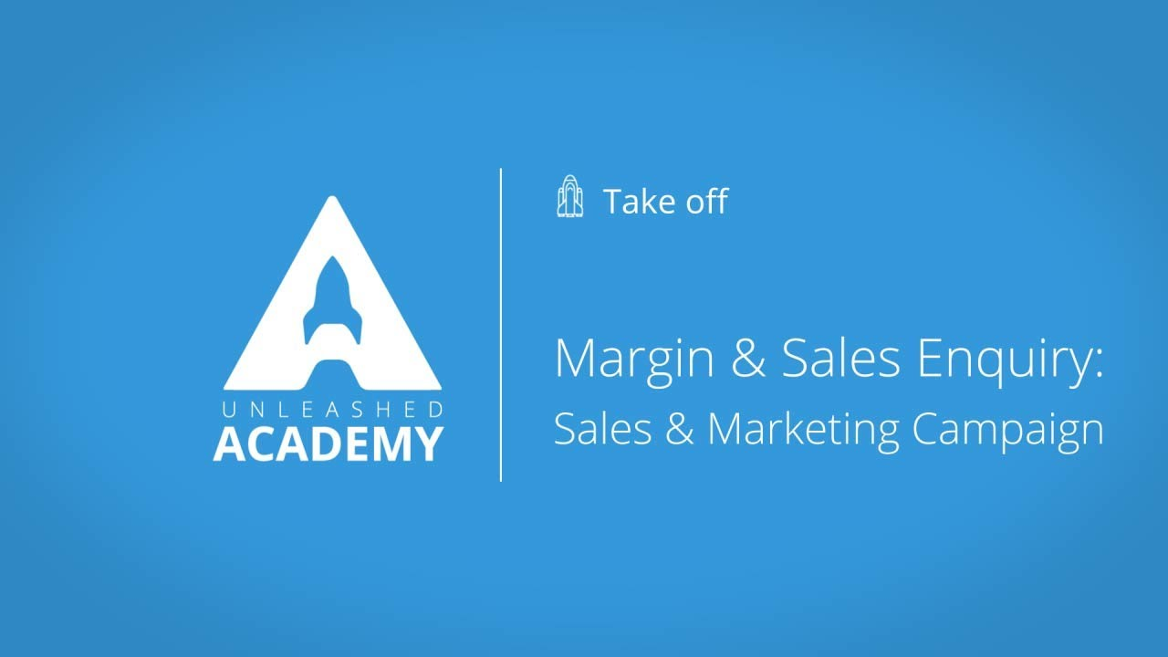 Margin & Sales Enquiry - Sales & Marketing campaign YouTube thumbnail image