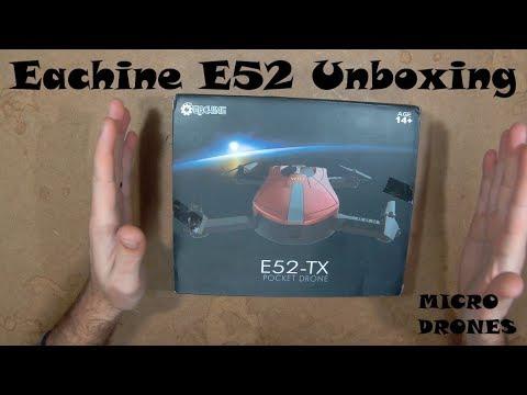 Eachine E52 - Unboxing - Drone com câmera e Wifi FPV