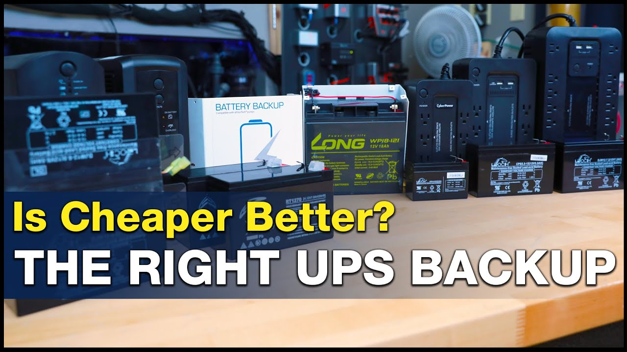 BRStv Investigates - The most economical battery back up solutions and how inverter size affects performance
