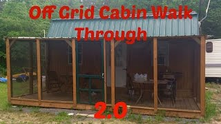 Download Youtube: Off Grid Cabin Walk Through 2.0: From Start to Present, Plus Future Plans