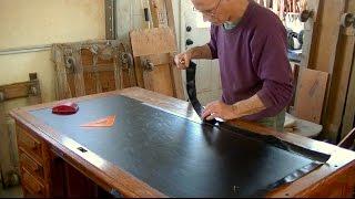 Installing Oilcloth for an Antique Desk