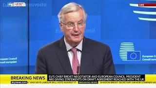 Tusk and Barnier react to Theresa May