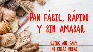 Pan sin amasar / No knead bread