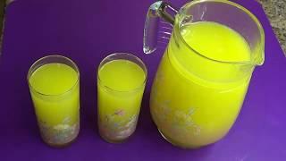 Холодный напиток лимонад. Хоть каждый день его делай, всё мало.