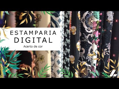 Imagem Video - Estamparia Digital: Acerto de cor