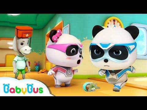 super panda s earthquake rescue play safe kids cartoon kids