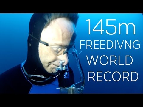 Man holds onto anchor and sinks 145m (Freediving world record)