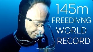 William Winram 145m Freediving World Record (VWT) - Video Youtube