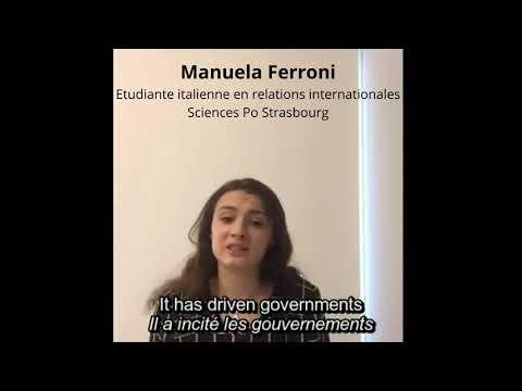 Manuela Ferroni, student at Sciences Po Strasbourg - Message Europe Day 2020 Online Campaign